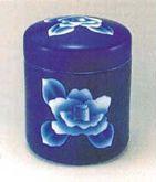 骨壺 瑠璃花