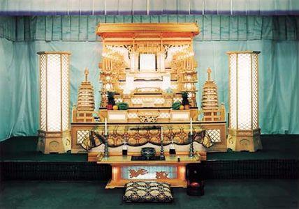 <心/こころ>最高級唐草格子5段飾り祭壇